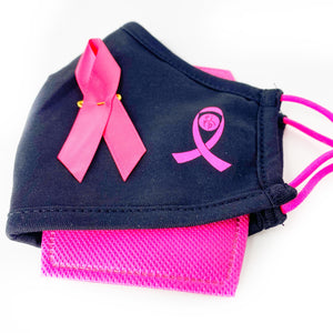 Breast cancer society of canada Pink ribbon face mask