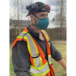 Construction worker wearing blue face mask  - The Peoples Mask