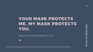 Premium reusable protective face mask gift card | The Peoples Mask