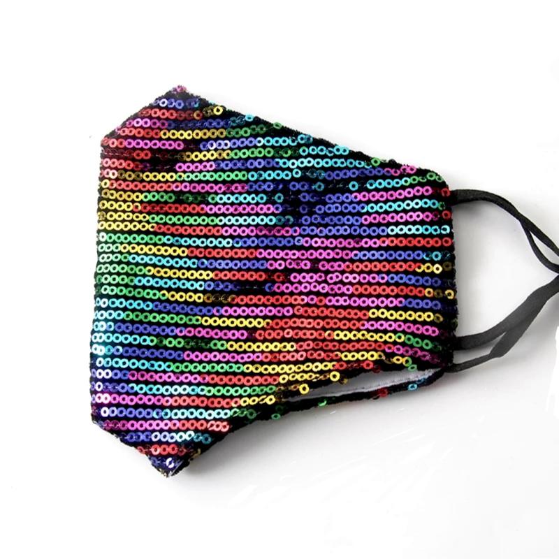 Sparkly Sequin Fashion Mask in Prism