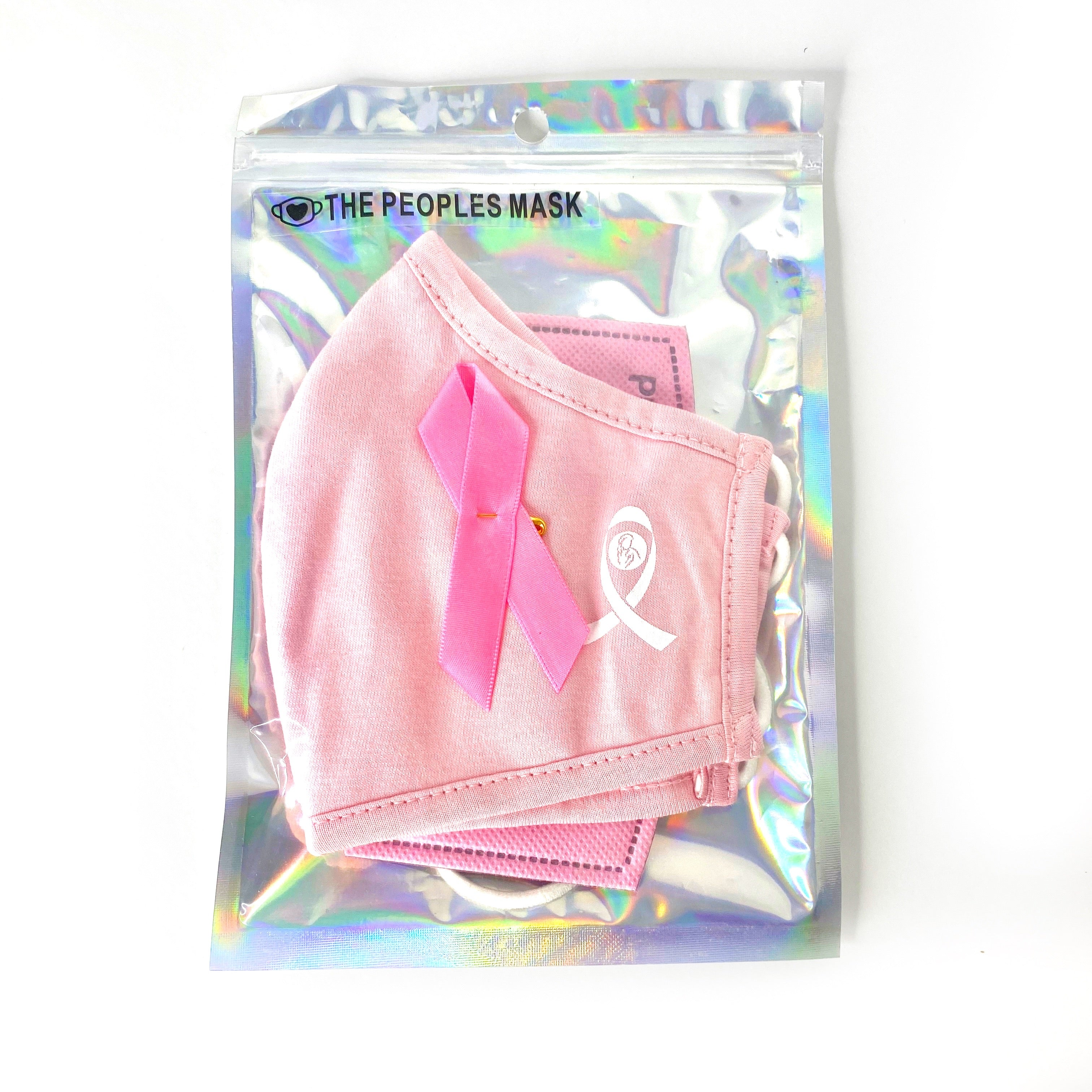 Breast cancer pink ribbon face mask set - The Peoples Mask
