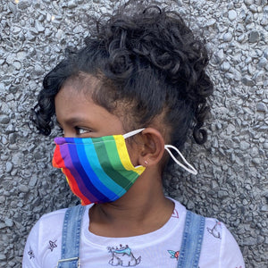 Rainbow Kids Reusable Cloth Face Mask With Filter Pocket |The Peoples Mask
