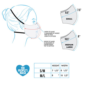 Face Mask Sizing Chart Measurements - The Peoples Mask Edmonton, Alberta