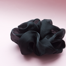 Load image into Gallery viewer, Organza Scrunchie- Jumbo Black