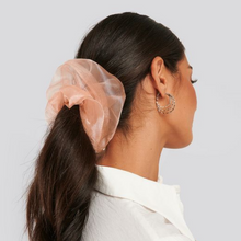 Load image into Gallery viewer, Organza Scrunchie- Jumbo Pink