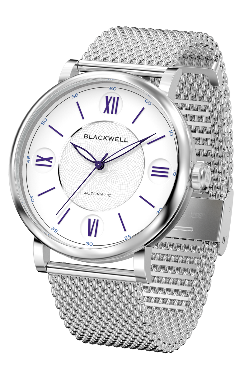 White Dial with Silver Steel and Silver Steel Mesh 10017