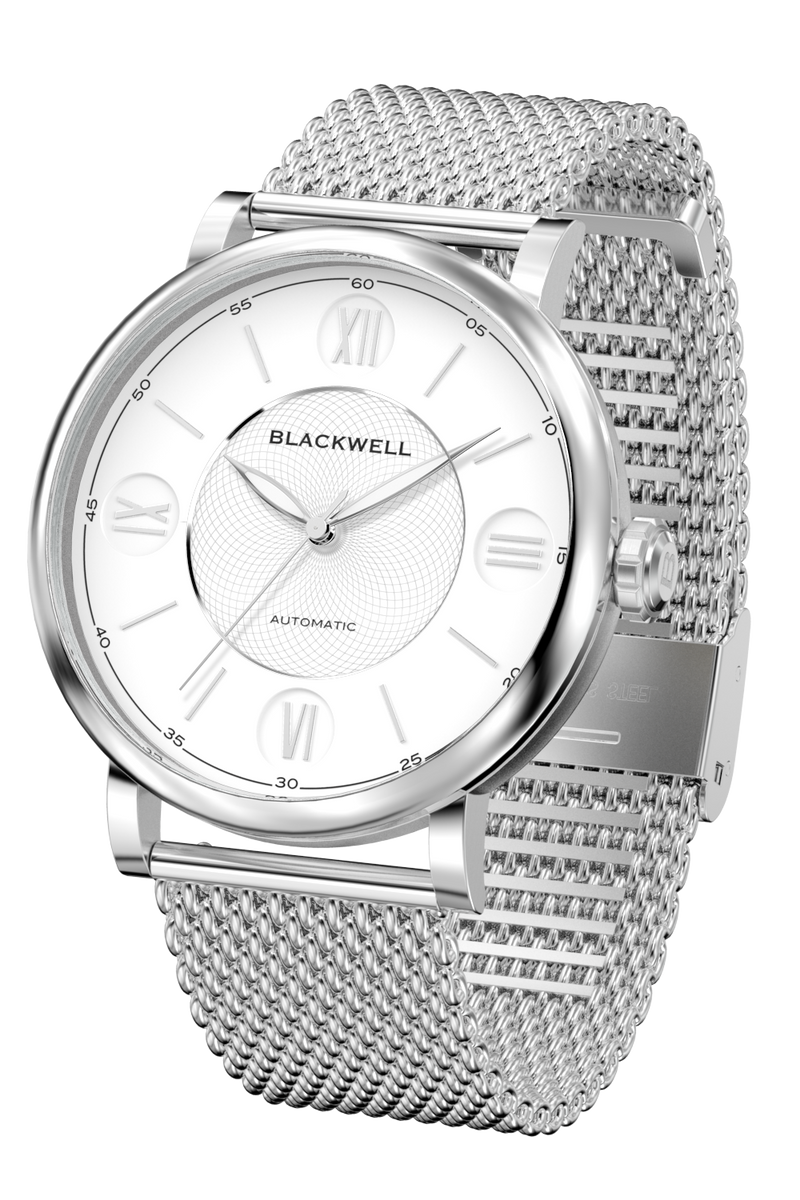 Silver Dial with Silver Steel and Silver Steel Mesh 10017