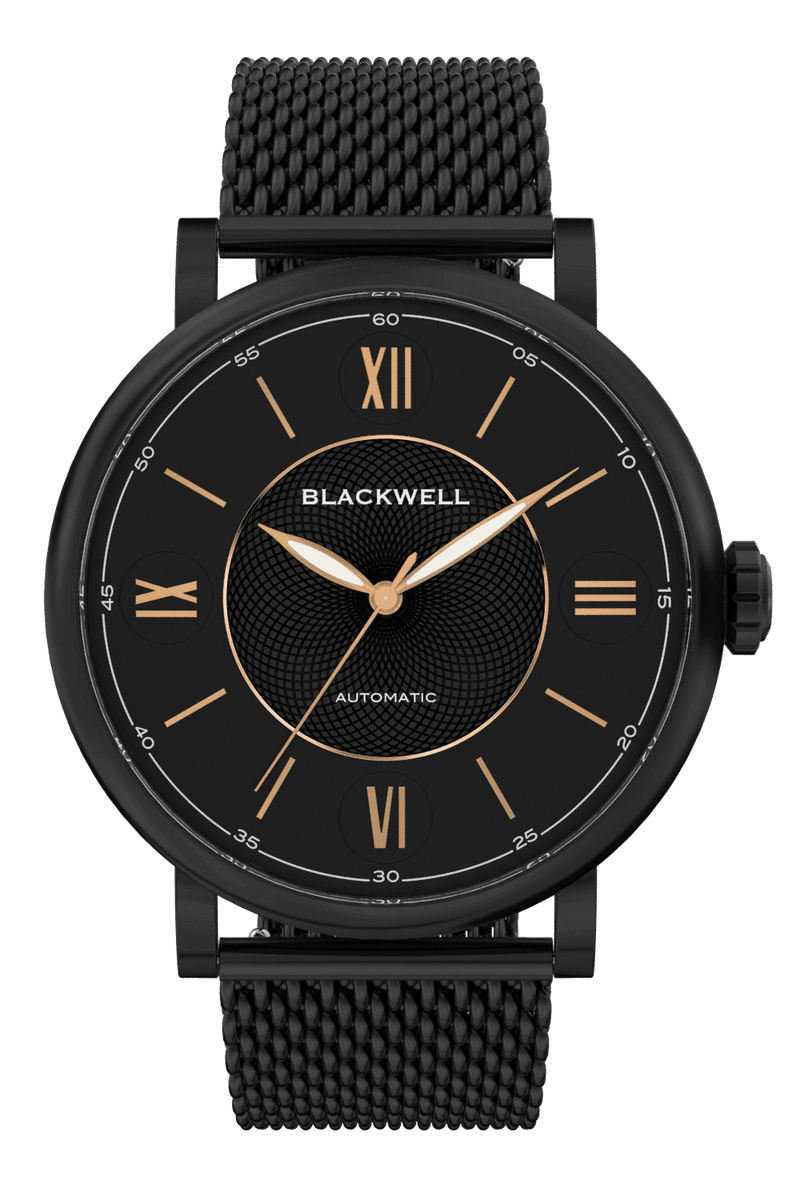 Black Dial with Black Plated Steel and Black Plated Steel Mesh 0017