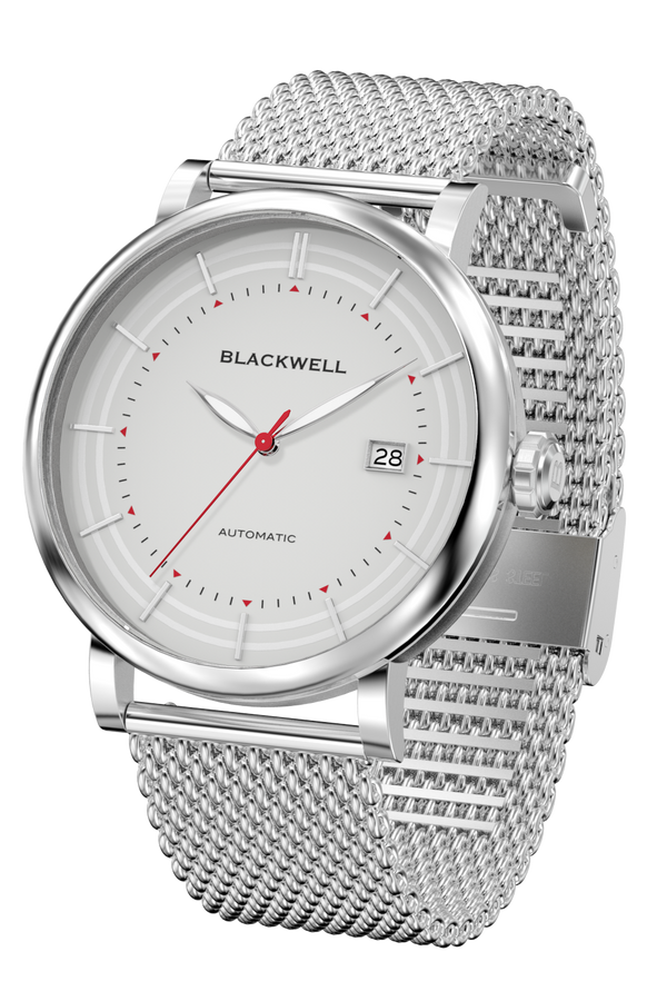 Grey Dial with Silver Steel and Silver Steel Mesh 10111