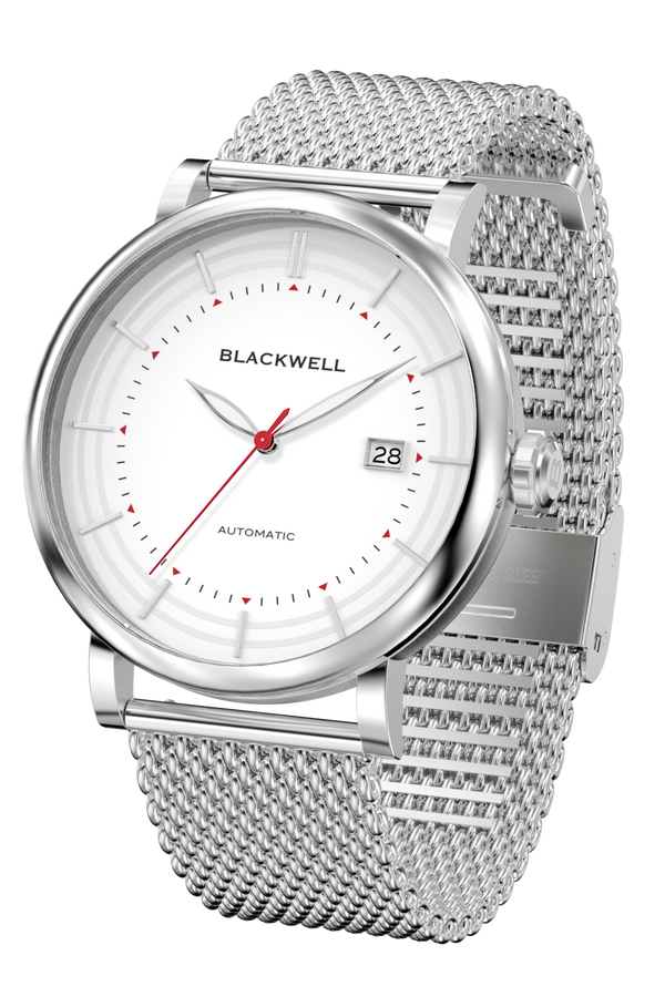 Silver Dial with Silver Steel and Silver Steel Mesh 10111