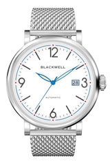 White Dial with Silver Steel and Silver Steel Mesh  10003
