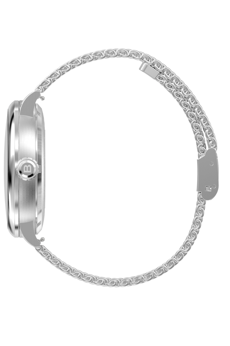 Sunray White Dial with Silver Steel and Silver Steel Mesh 10003