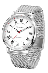 White Dial with Silver Steel and Silver Steel Mesh  10010