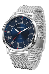 Sunray Dark Blue Dial with Silver Steel and Silver Steel Mesh 10010