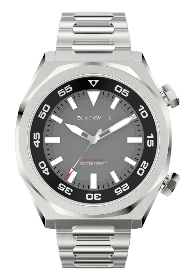 Gray Dial with Stainless Steel Case and Stainless Steel Bracelet Van Alen