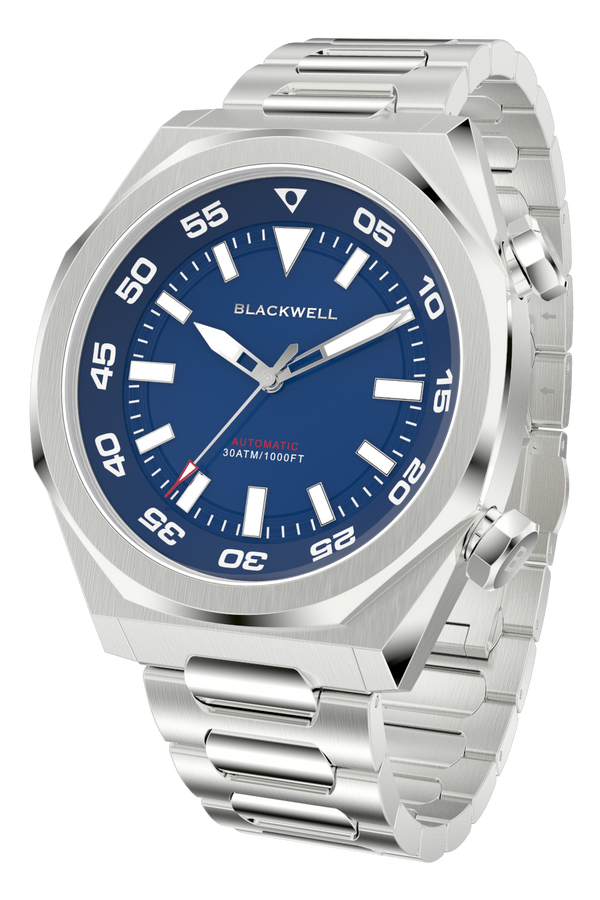 Blue Dial with Stainless Steel Case and Stainless Steel Bracelet Van Alen