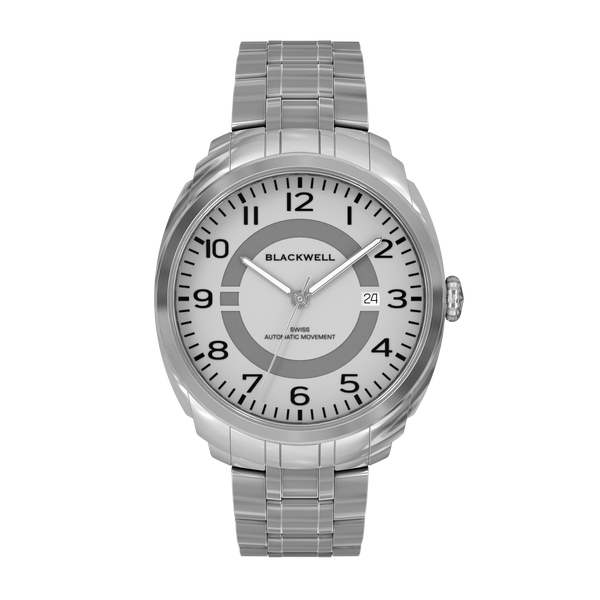 HAMPTONS - SILVER DIAL WITH STAINLESS STEEL CASE AND STAINLESS STEEL BRACELET
