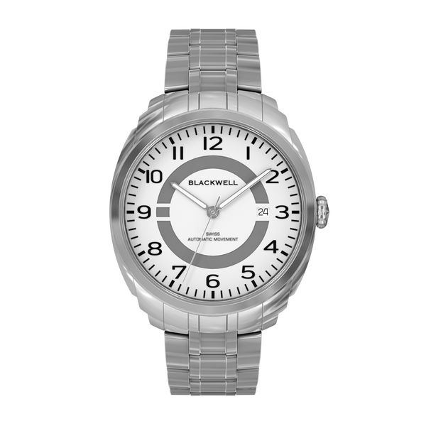 HAMPTONS - WHITE DIAL WITH STAINLESS STEEL CASE AND STAINLESS STEEL BRACELET