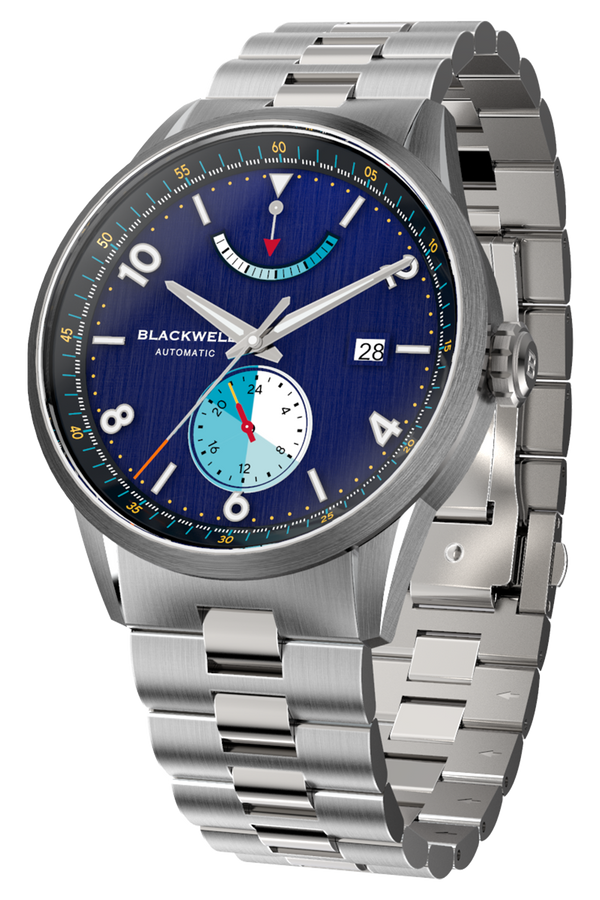 Color Touch - Dark Blue Dial With Stainless Steel Case And Stainless Steel Bracelet