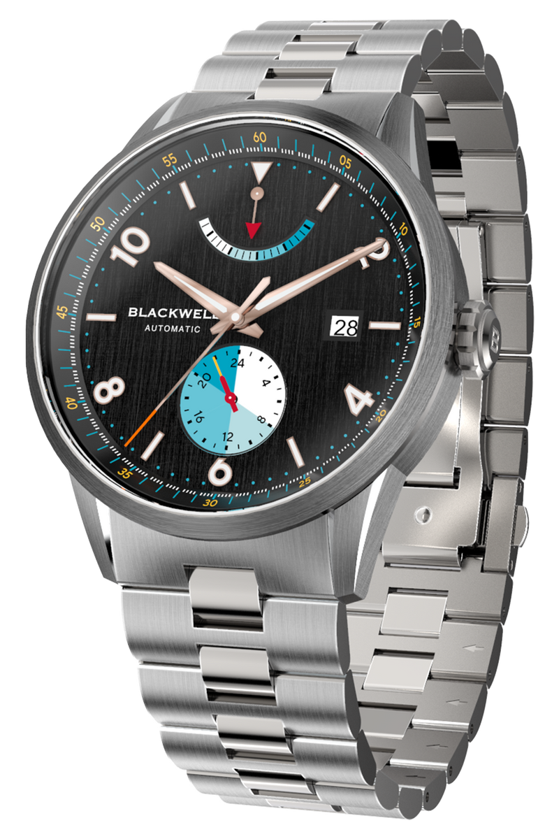 Color Touch - Black Dial With Stainless Steel Case And Stainless Steel Bracelet