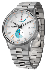 Color Touch - Matte White Dial With Stainless Steel Case And Stainless Steel Bracelet
