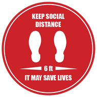 Social Distancing Saves Lives sticker