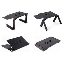 Load image into Gallery viewer, Adjustable Foldable Laptop Table with Cooling Fan
