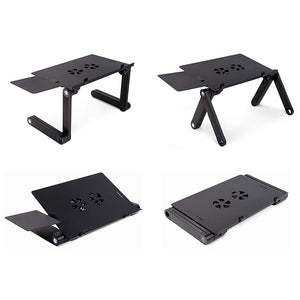 Adjustable Foldable Laptop Table with Cooling Fan