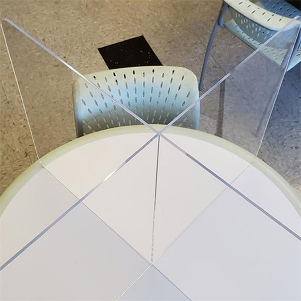 Acrylic shield/sneeze guard table top