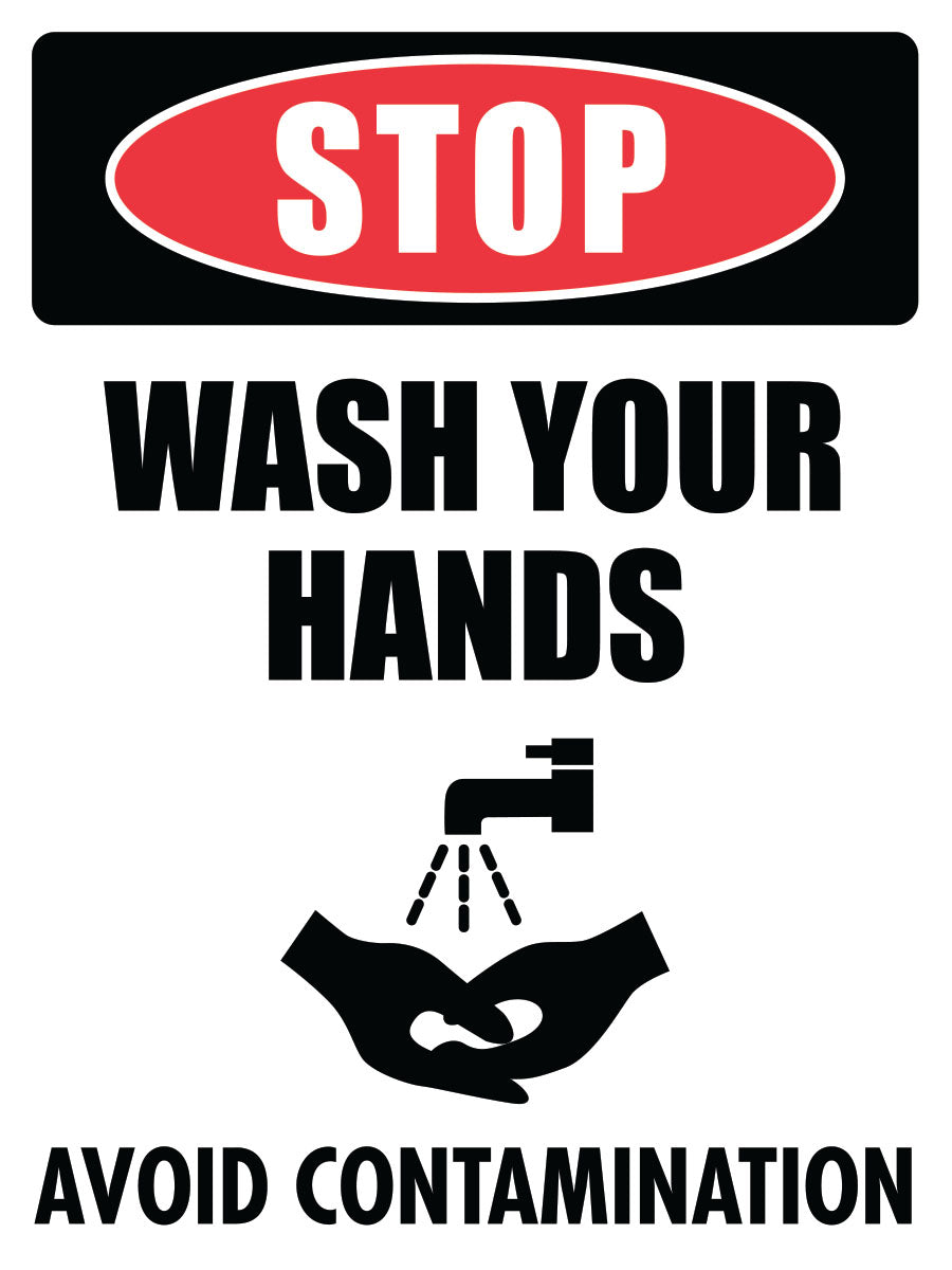 STOP! Wash Your Hands Before Leaving This Area