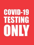 Covid-19 Testing Only Sticker