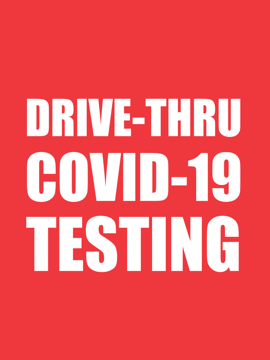 Drive thru Covid-19 Sticker