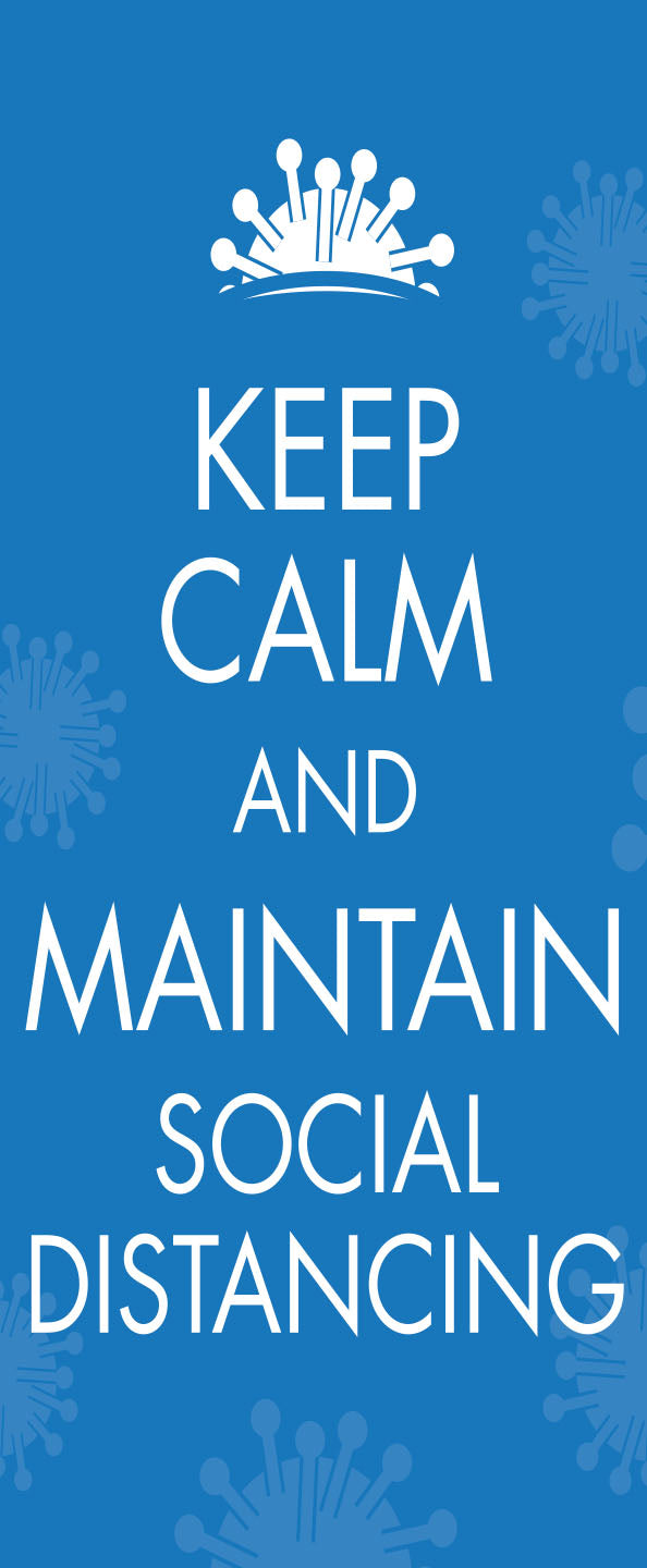 Keep Calm Social Distancing poster