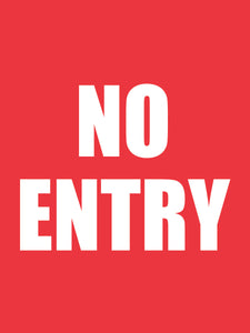 No entry stickers