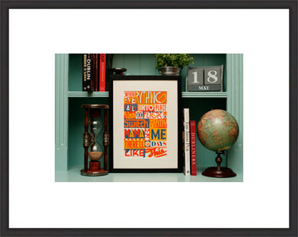 contemporary real wood frames in black or white