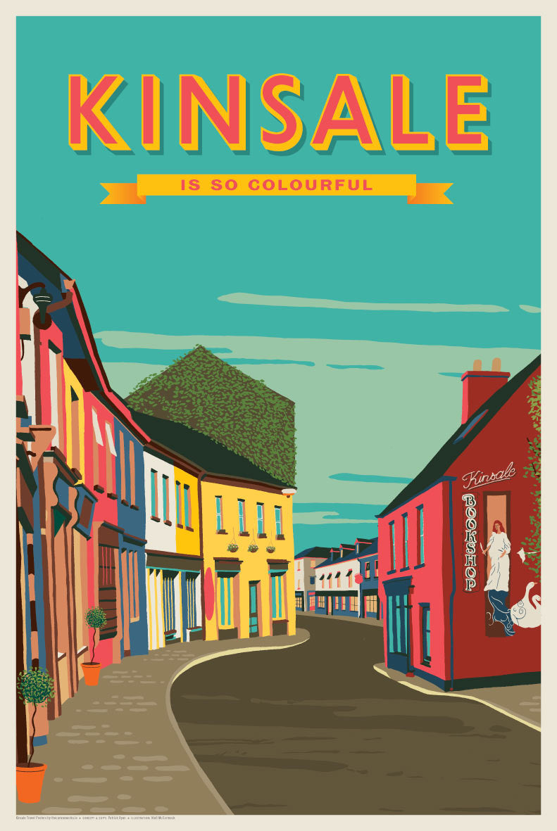 Vintage Travel Posters Ireland The Canvas Works