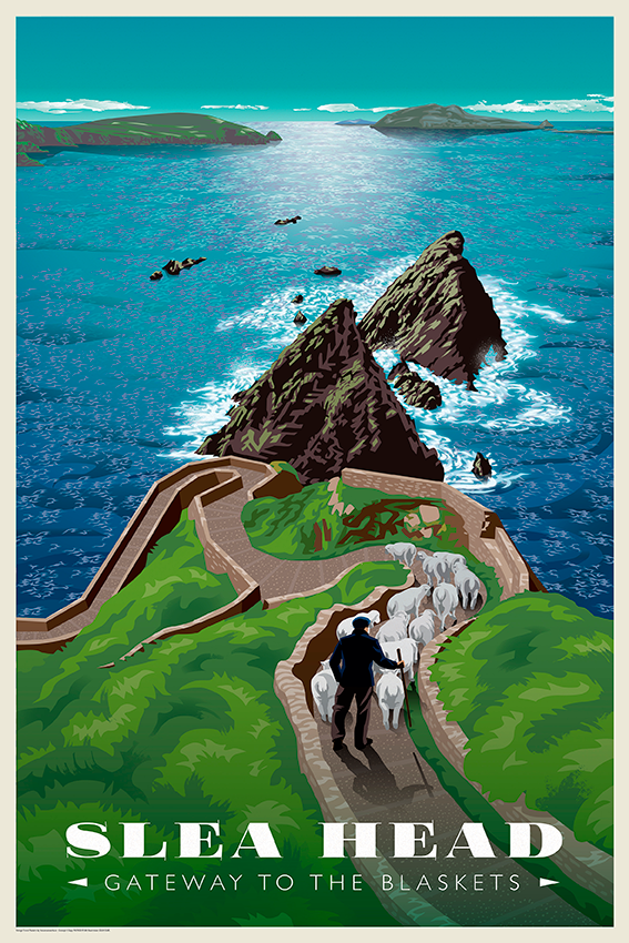 e83accf532 Vintage Travel Posters Ireland - The Canvas Works