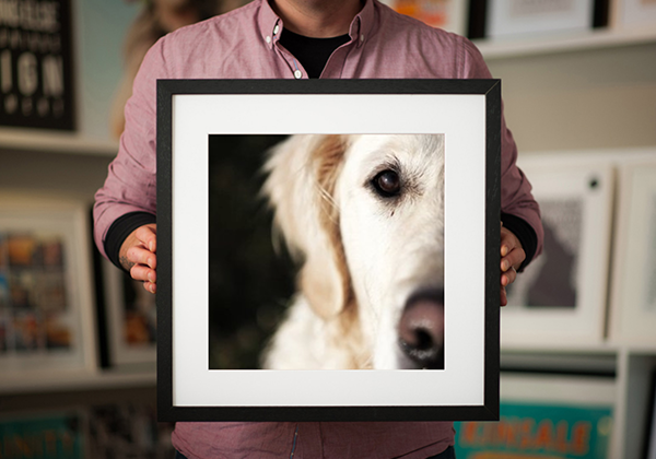 Gallery Style Square Framed Print