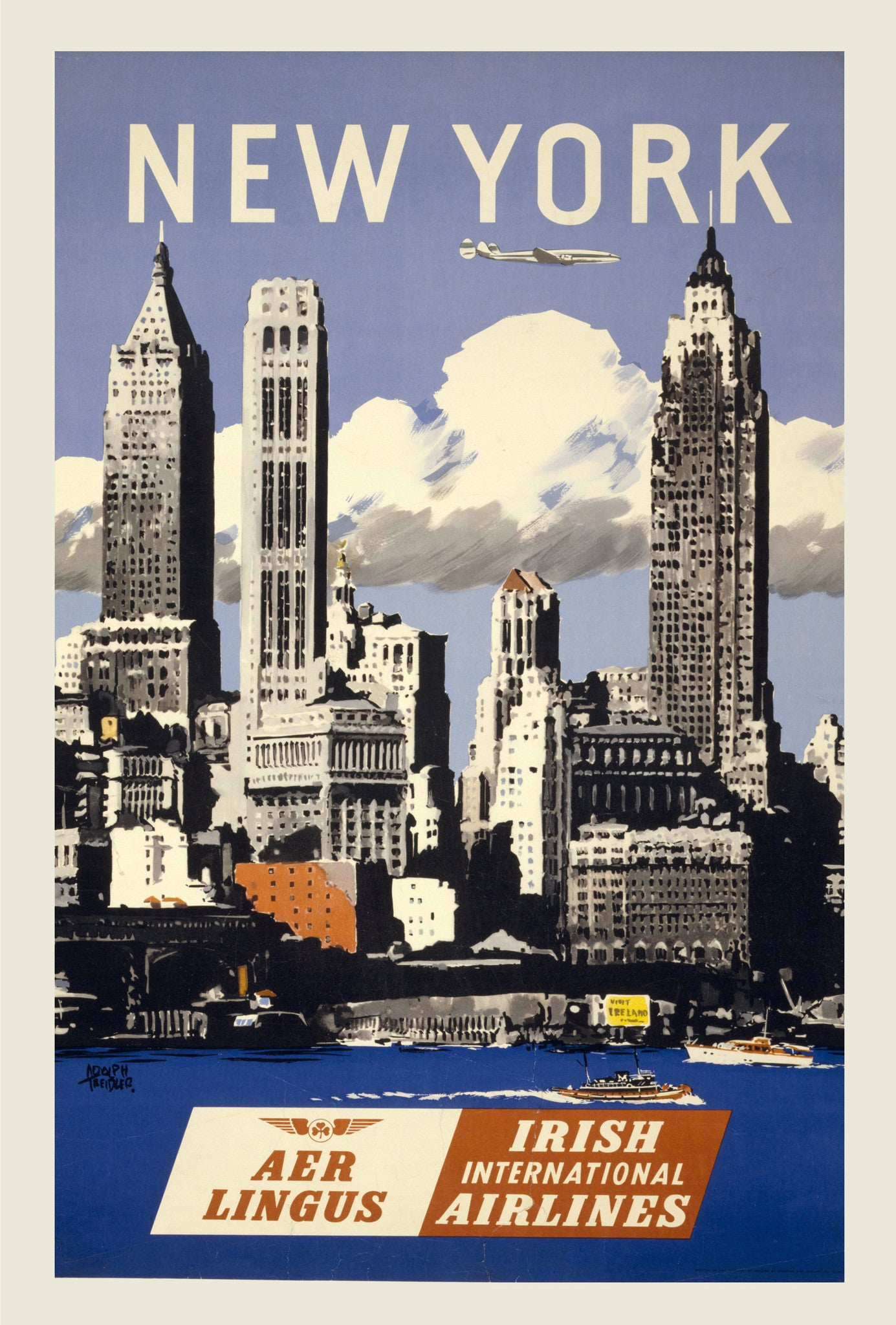 Vintage Aer Lingus New York
