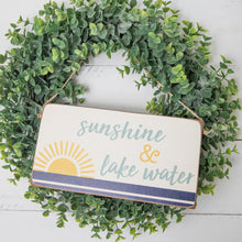 Load image into Gallery viewer, Sunshine + Lake Water Twine Hanging Sign