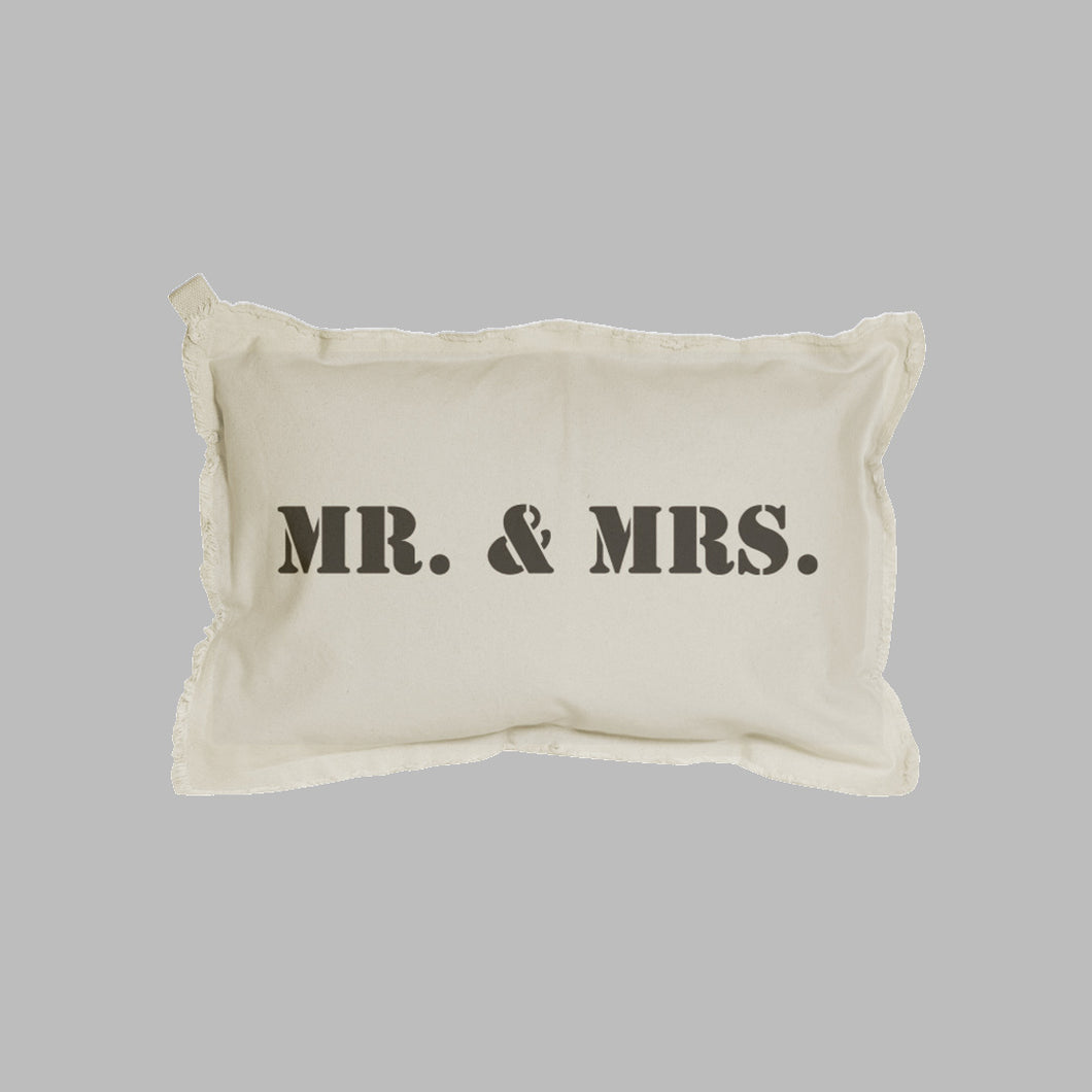 Mr. + Mrs. Lumbar Pillow