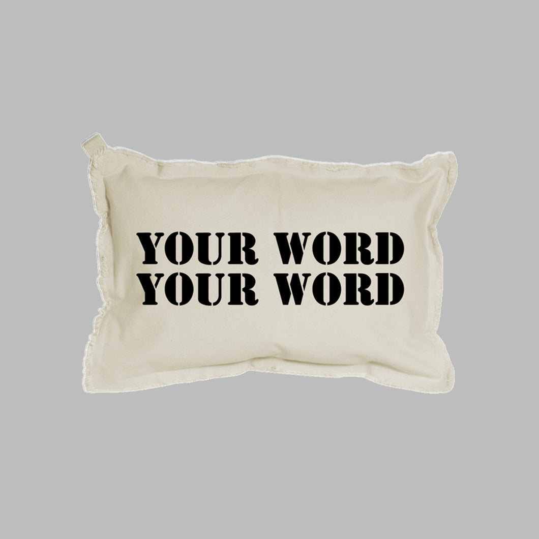 Your Word Two Lines Lumbar Pillow