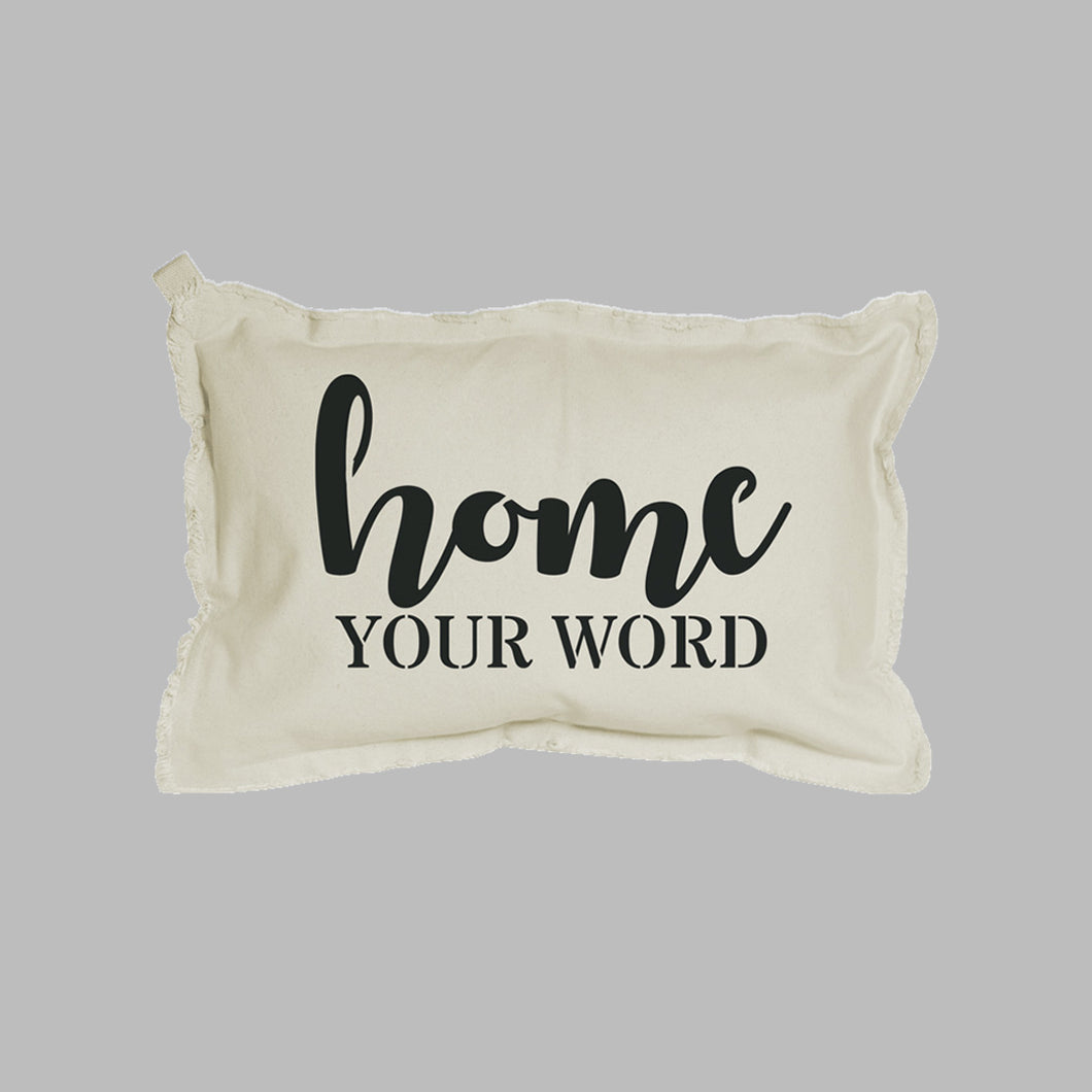 Personalized Home + Your Word Lumbar Pillow