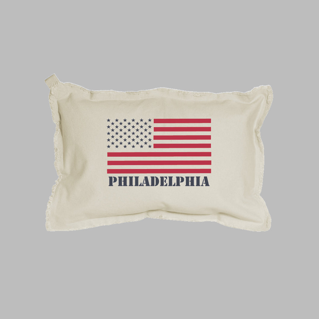 Personalized 50 Stars Flag Lumbar Pillow