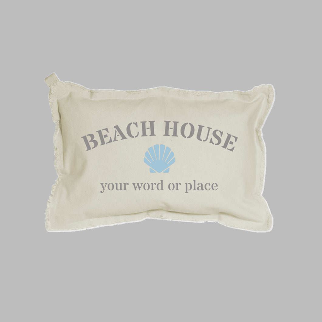 Personalized Beach House Lumbar Pillow