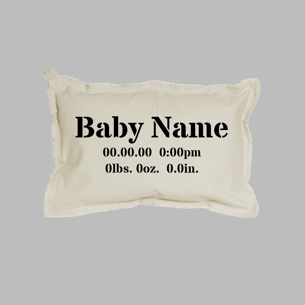 Birth Announcement Lumbar Pillow