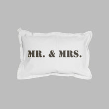 Load image into Gallery viewer, Mr. + Mrs. Lumbar Pillow