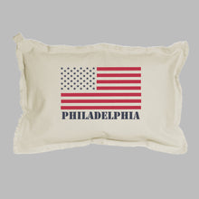 Load image into Gallery viewer, Personalized 50 Stars Flag Lumbar Pillow