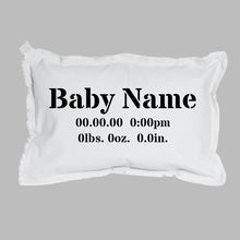 Load image into Gallery viewer, Birth Announcement Lumbar Pillow