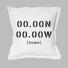 Load image into Gallery viewer, Your Home Coordinates Square Pillow